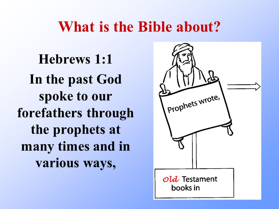 What is the Bible about Hebrews 1:1