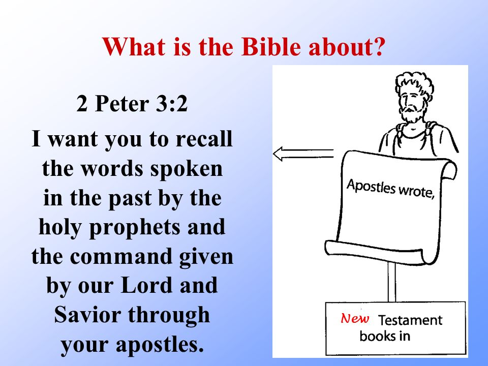 What is the Bible about 2 Peter 3:2