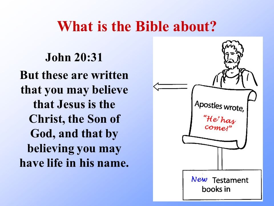 What is the Bible about John 20:31