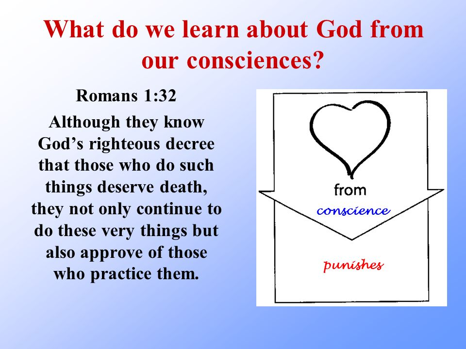 What do we learn about God from our consciences