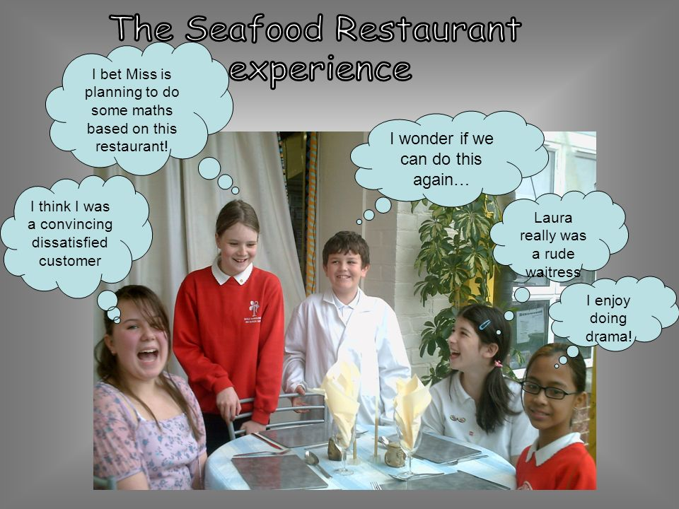The Seafood Restaurant experience
