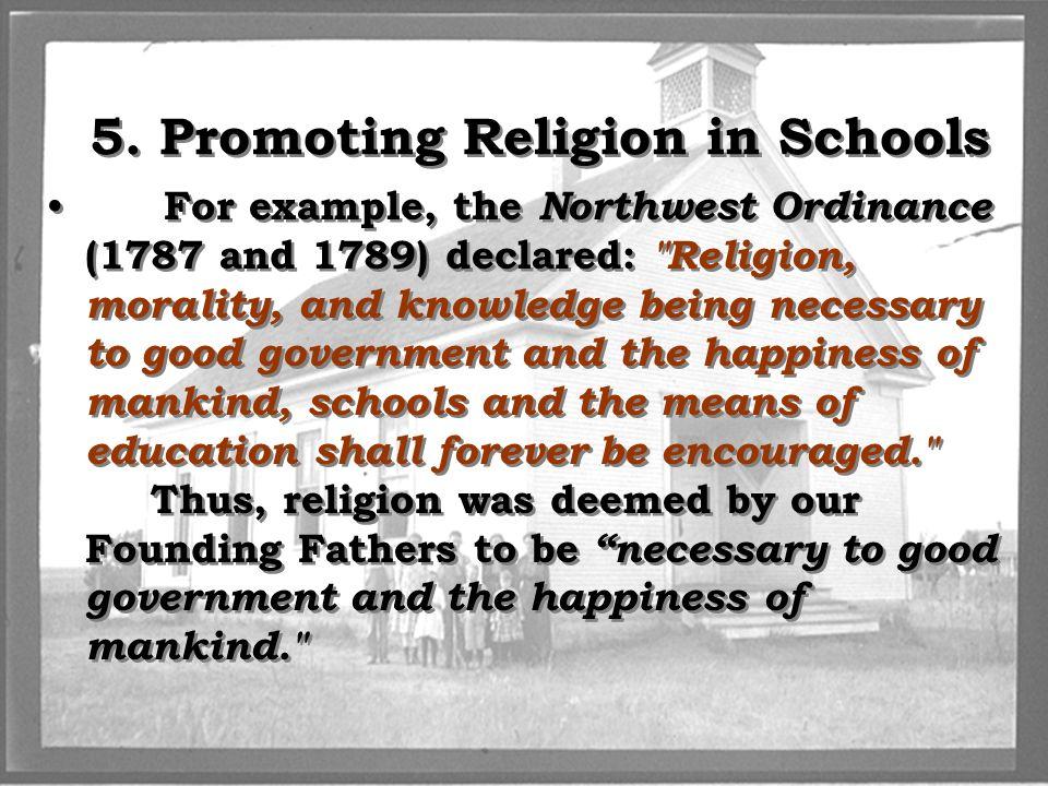 5. Promoting Religion in Schools