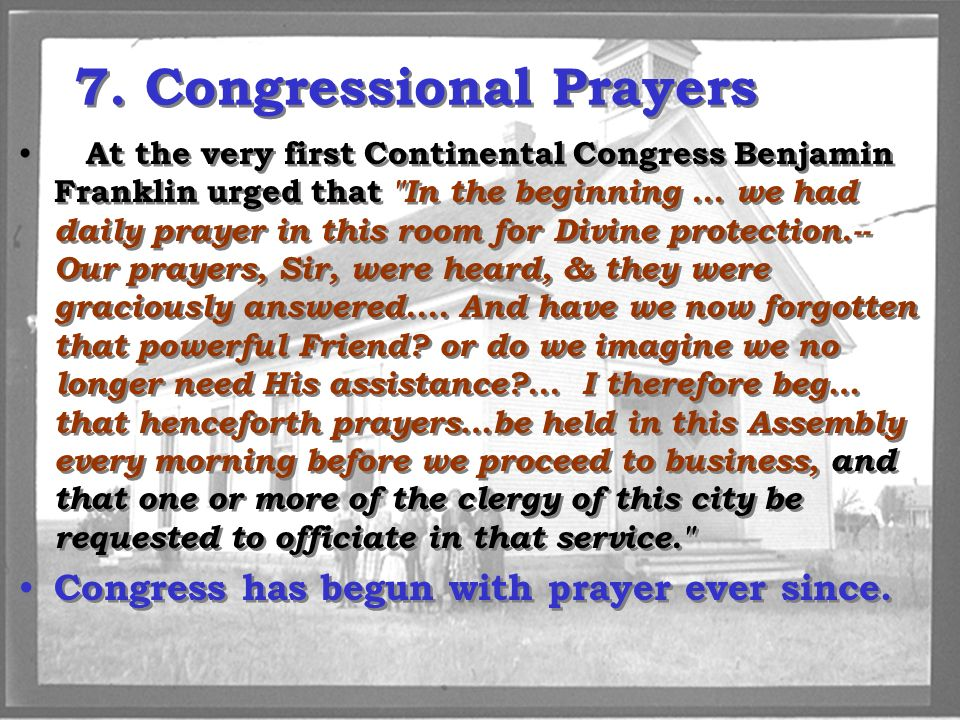 7. Congressional Prayers