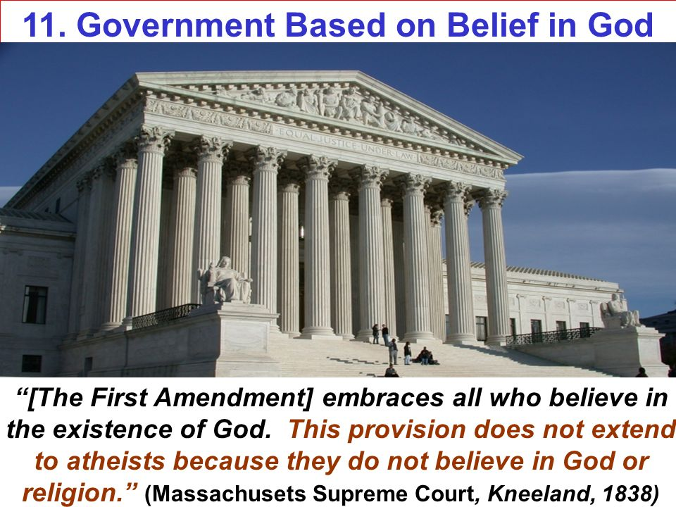 11. Government Based on Belief in God