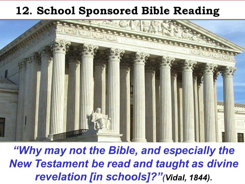 12. School Sponsored Bible Reading