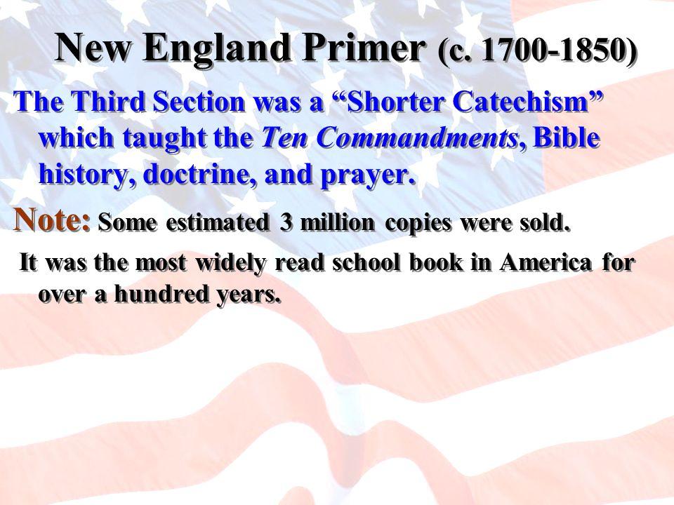 New England Primer (c. 1700-1850)