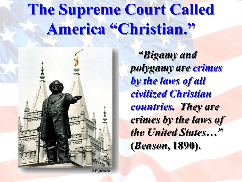 The Supreme Court Called America Christian.
