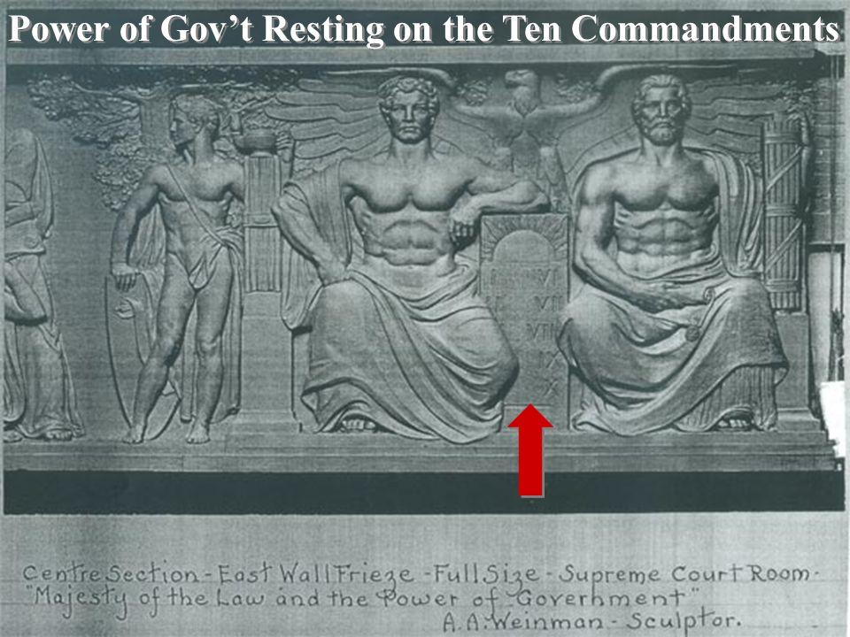 Power of Gov't Resting on the Ten Commandments