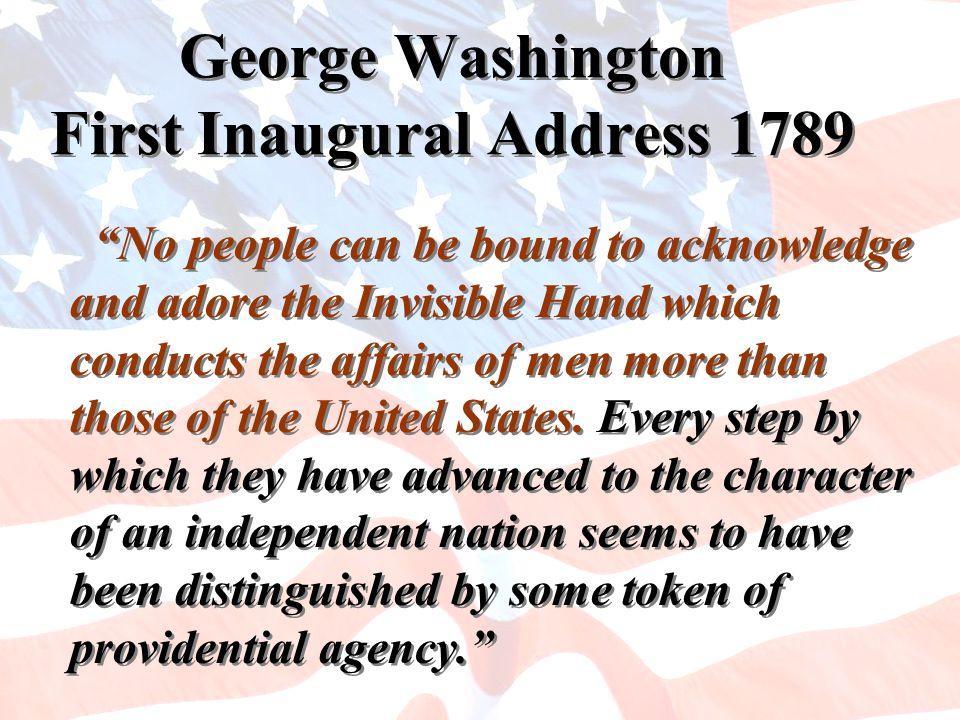George Washington First Inaugural Address 1789