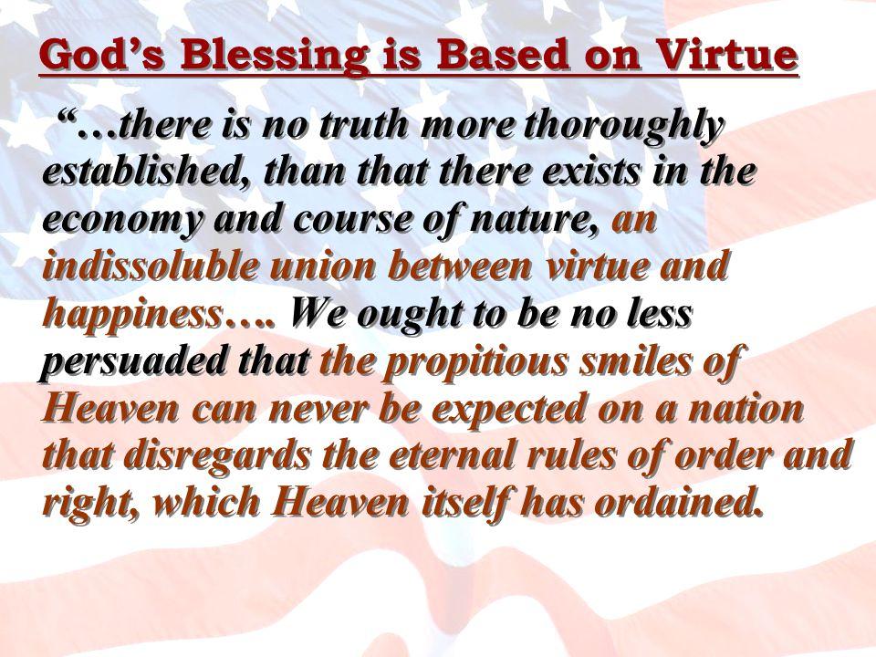 God's Blessing is Based on Virtue