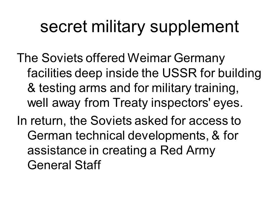 secret military supplement