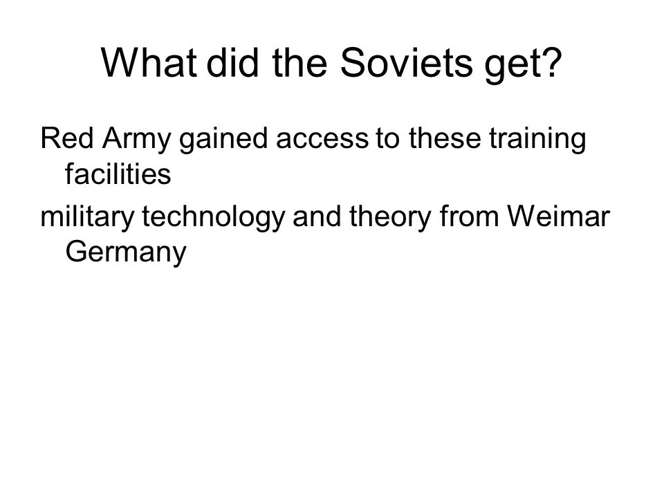 What did the Soviets get