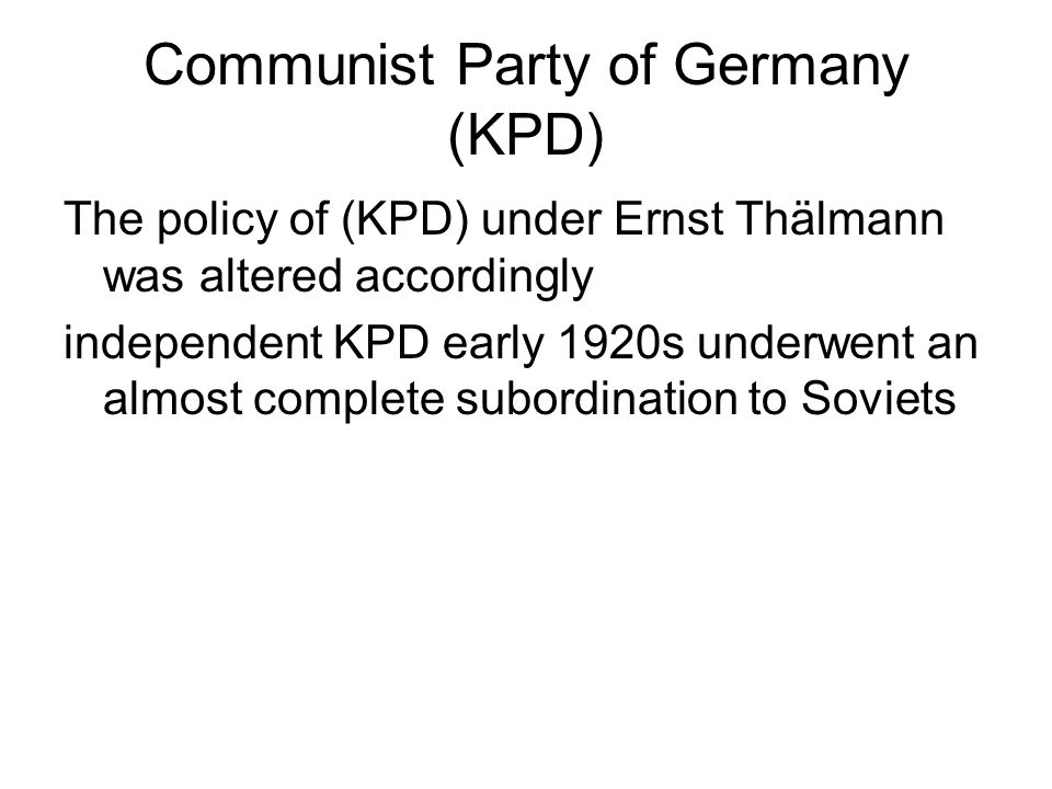 Communist Party of Germany (KPD)