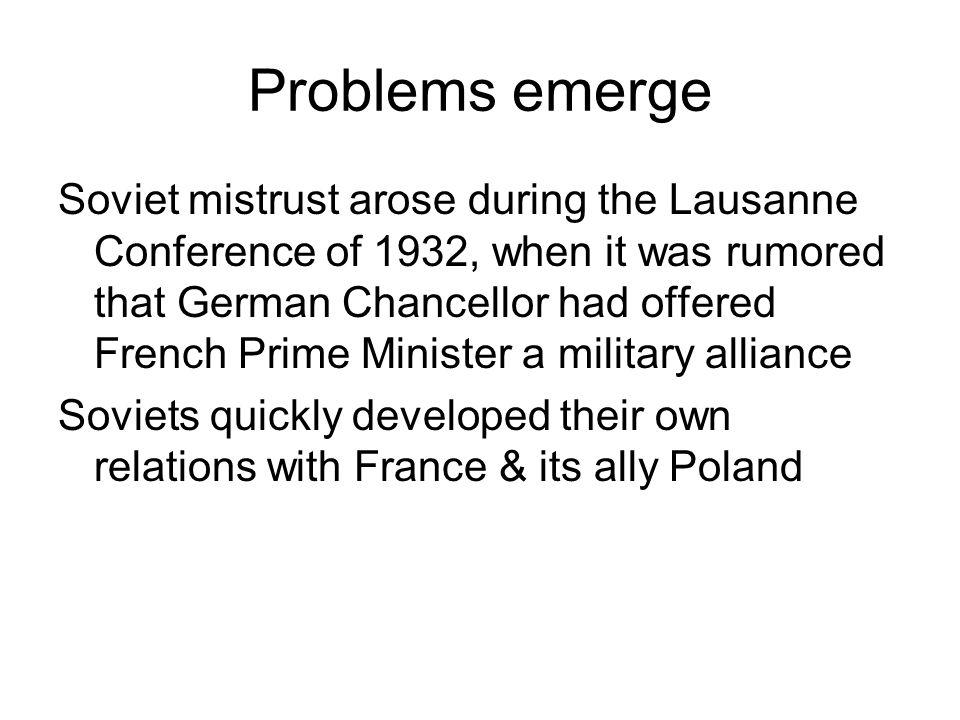 Problems emerge