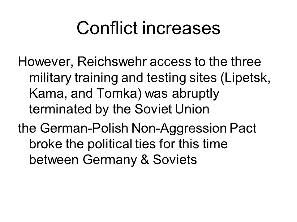 Conflict increases
