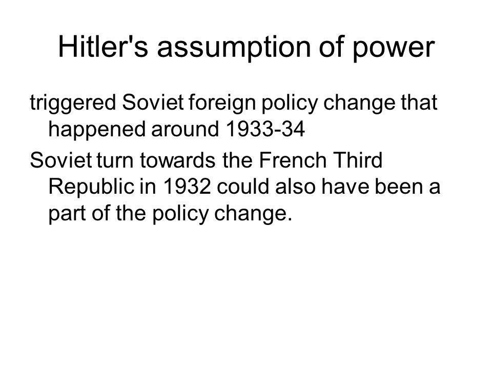 Hitler s assumption of power