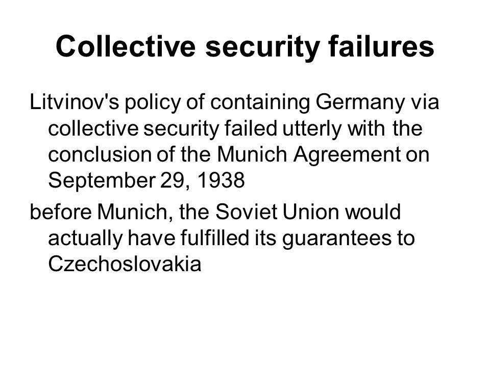 Collective security failures