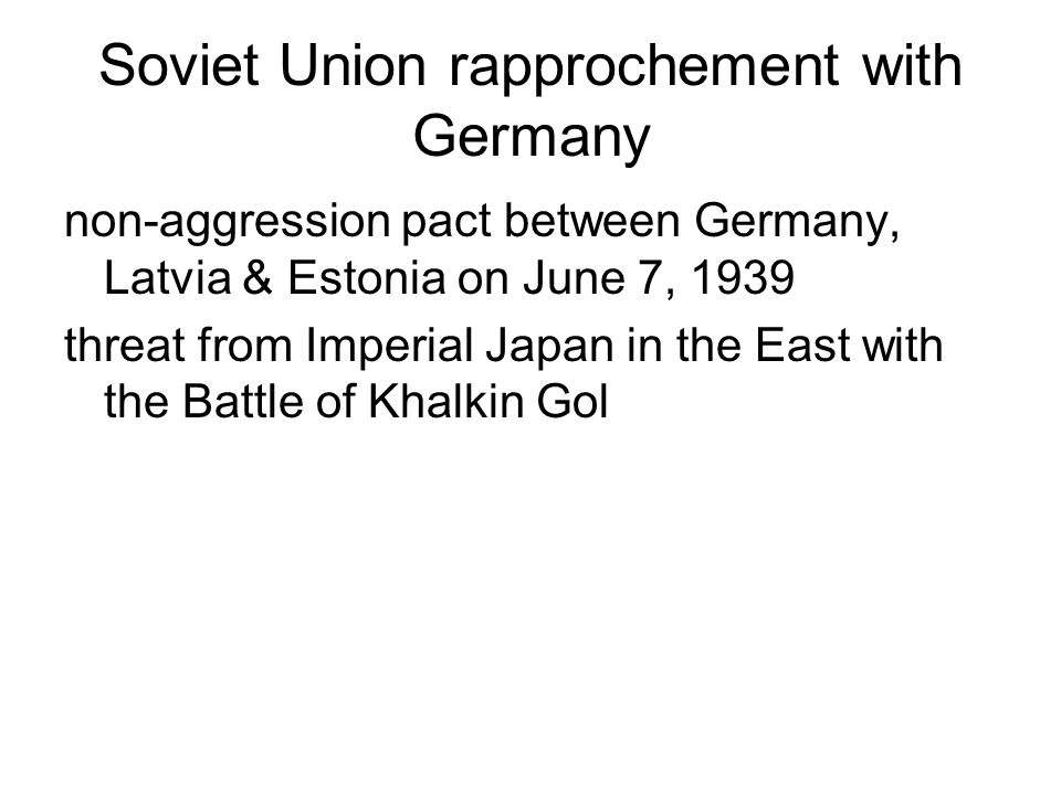 Soviet Union rapprochement with Germany