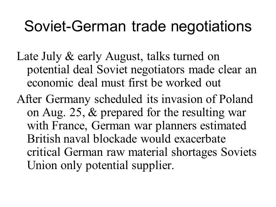 Soviet-German trade negotiations