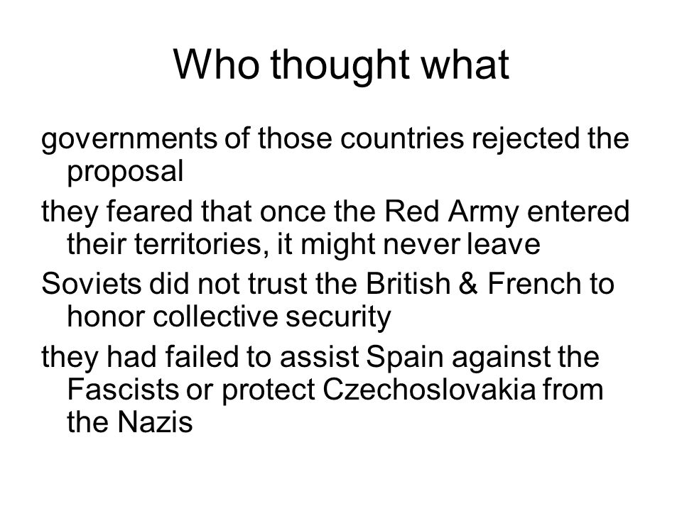 Who thought what governments of those countries rejected the proposal