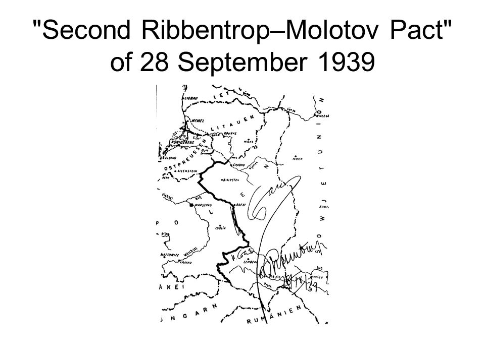 Second Ribbentrop–Molotov Pact of 28 September 1939