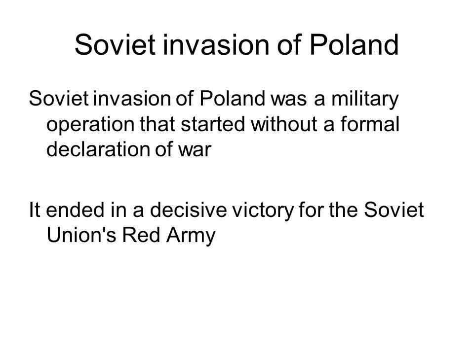 Soviet invasion of Poland