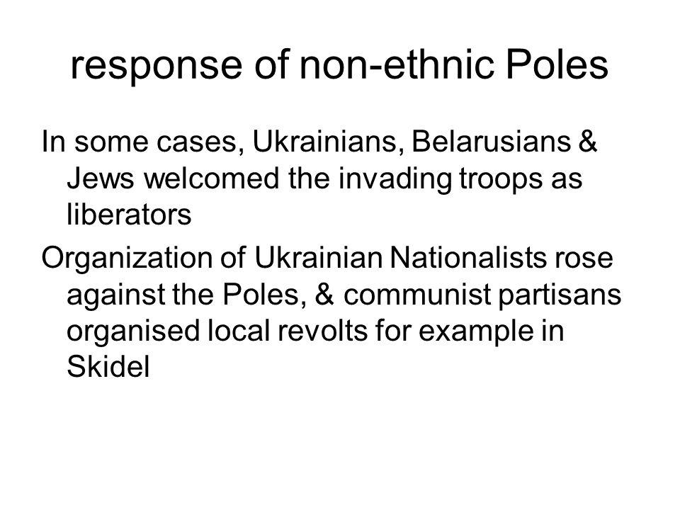 response of non-ethnic Poles