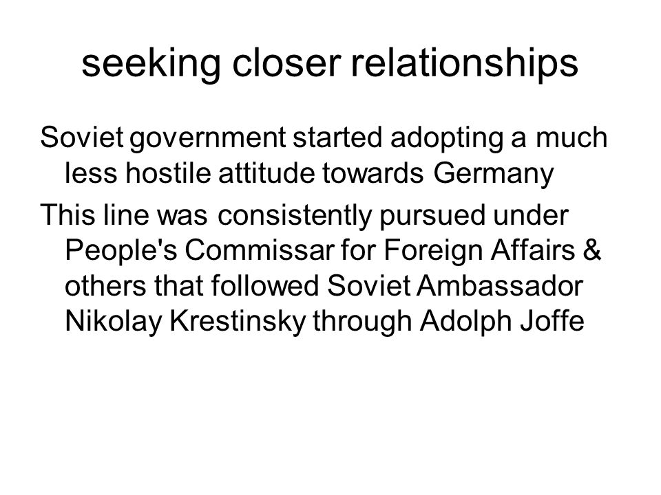 seeking closer relationships