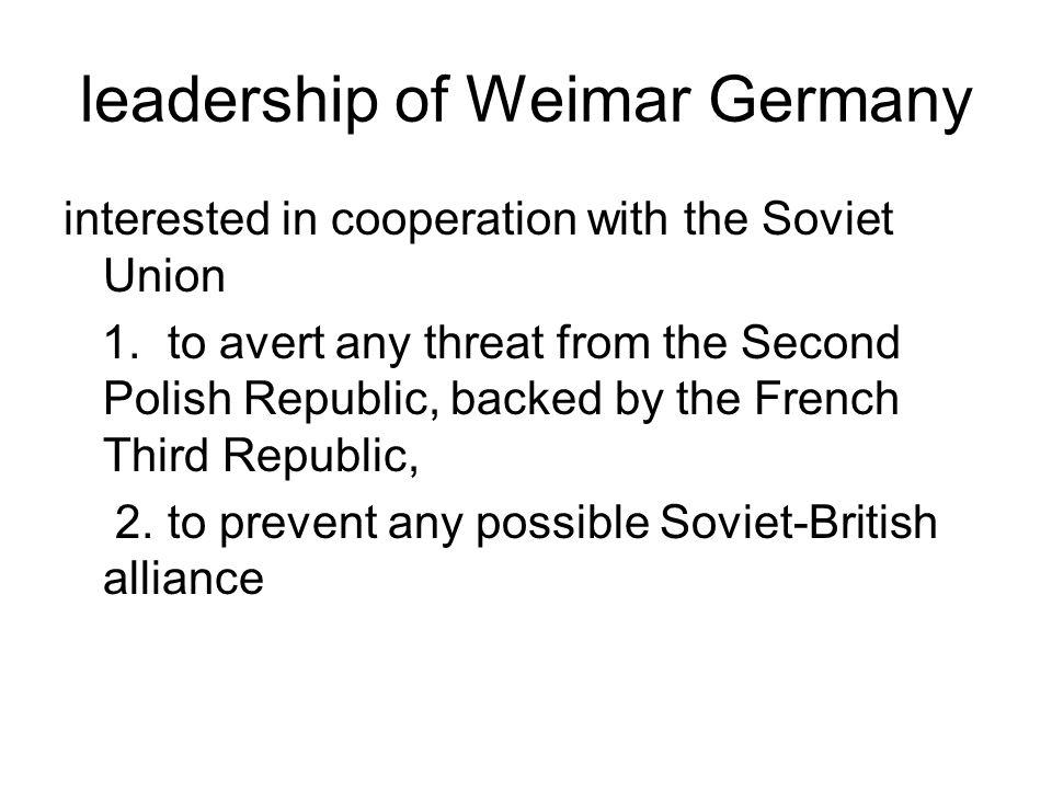 leadership of Weimar Germany