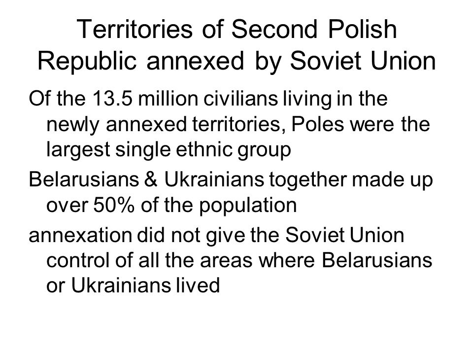 Territories of Second Polish Republic annexed by Soviet Union