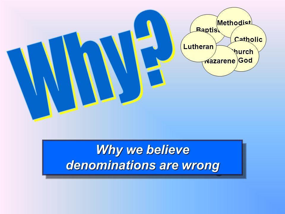 denominations are wrong