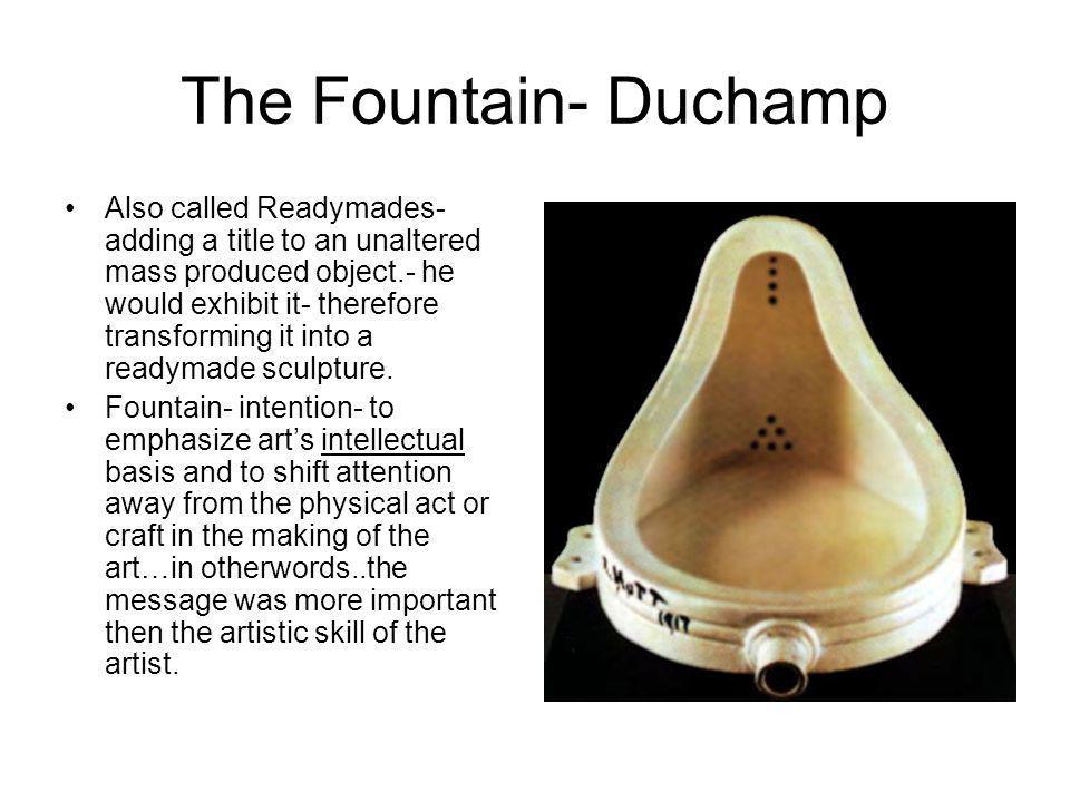 The Fountain- Duchamp