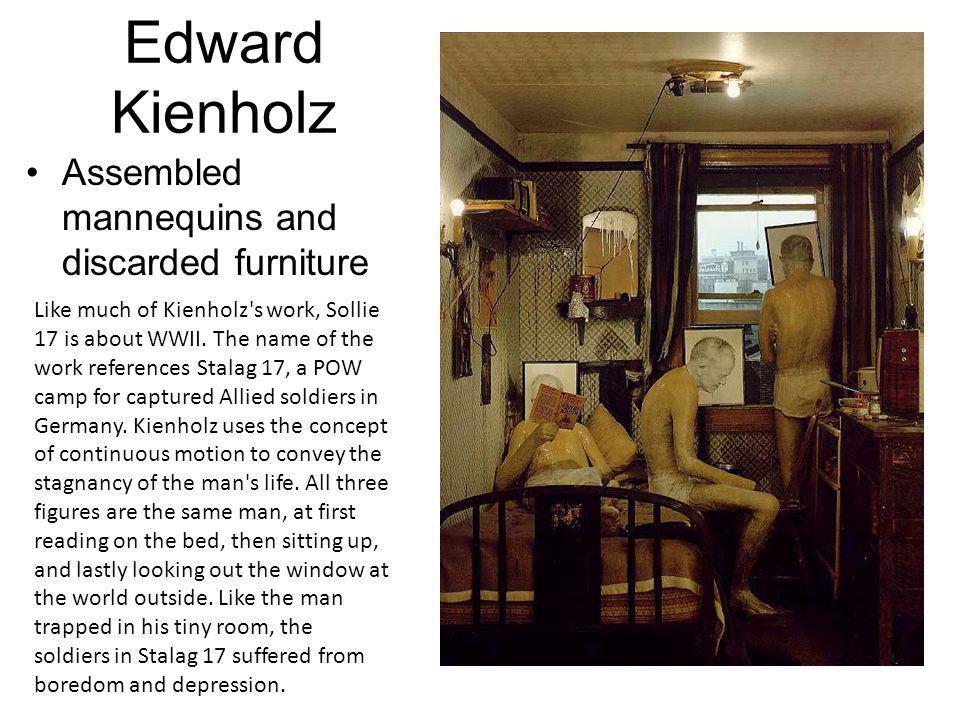 Edward Kienholz Assembled mannequins and discarded furniture