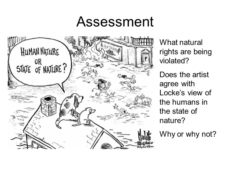 Assessment What natural rights are being violated