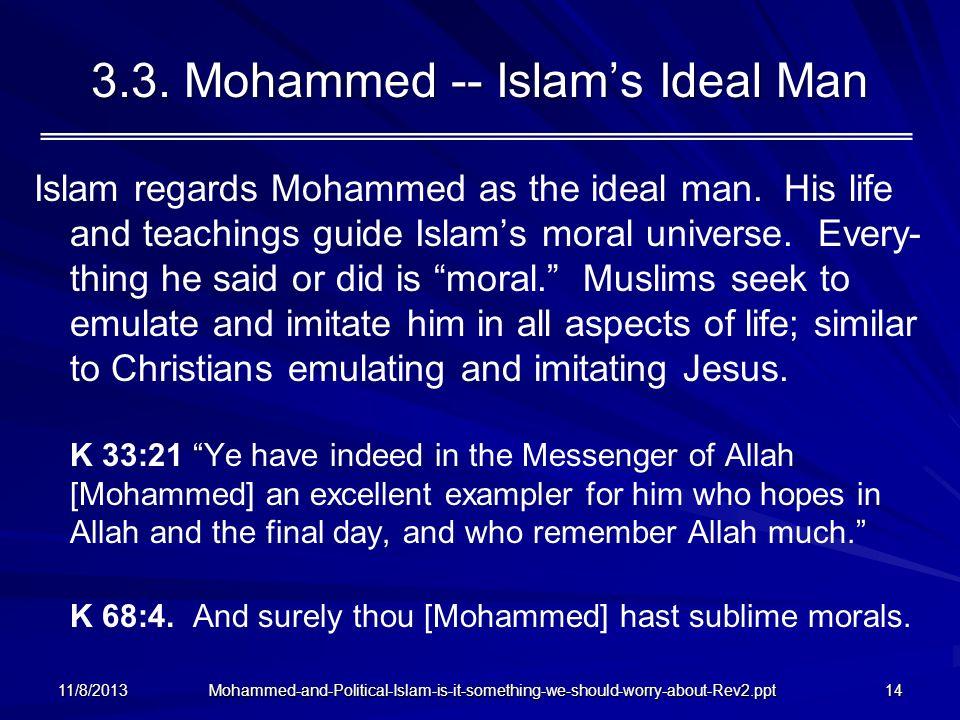 3.3. Mohammed -- Islam's Ideal Man