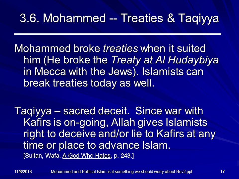 3.6. Mohammed -- Treaties & Taqiyya