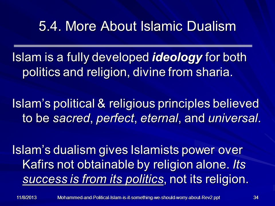 5.4. More About Islamic Dualism
