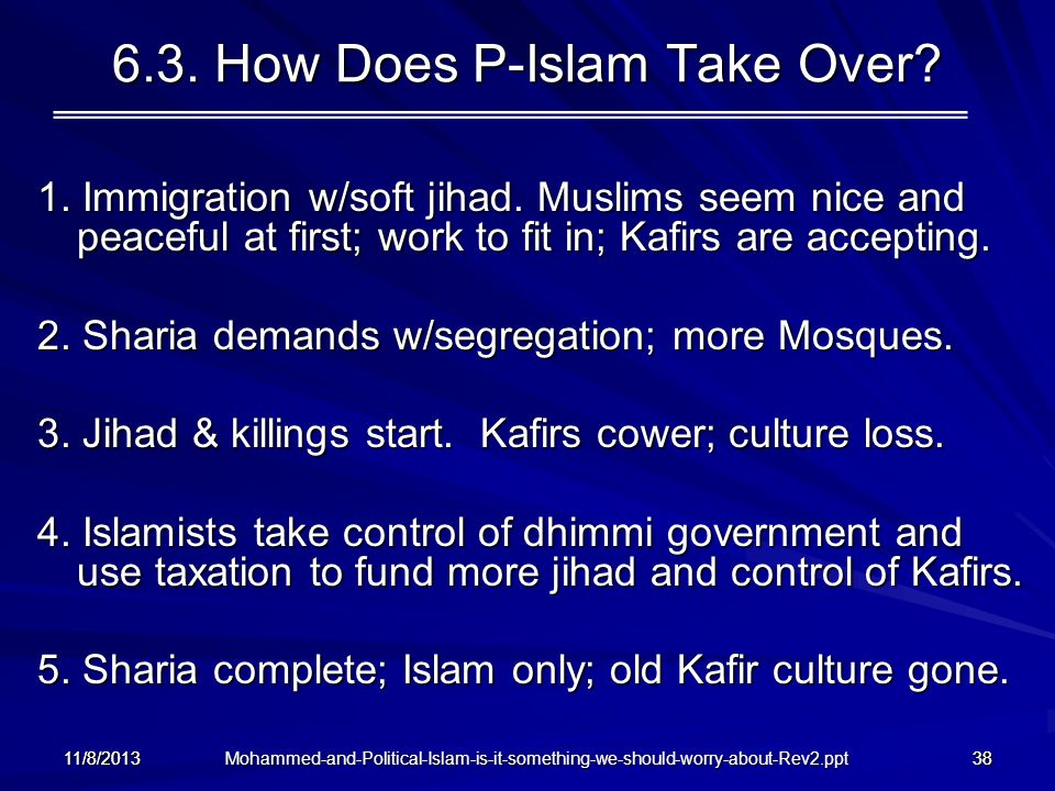 6.3. How Does P-Islam Take Over