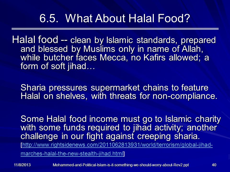 6.5. What About Halal Food