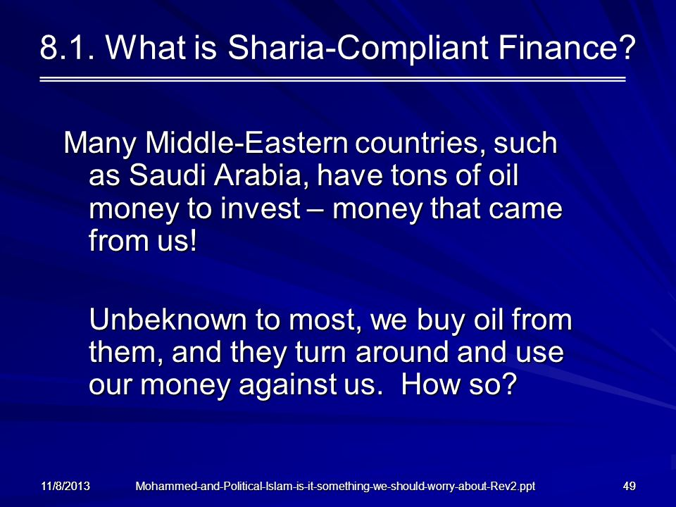 8.1. What is Sharia-Compliant Finance