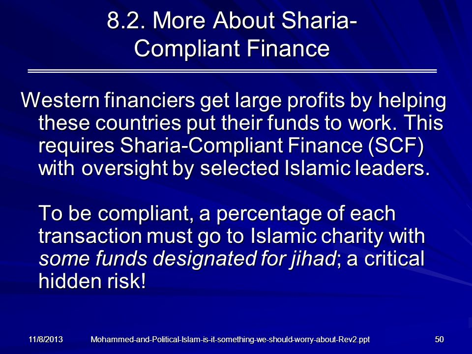 8.2. More About Sharia- Compliant Finance