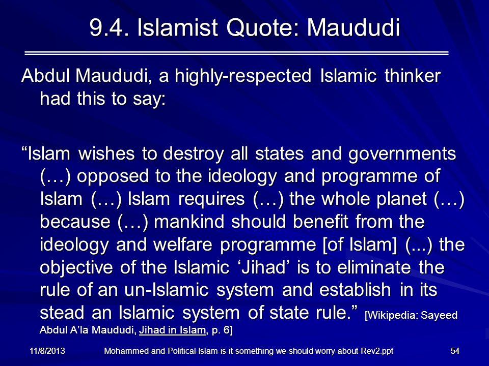 9.4. Islamist Quote: Maududi