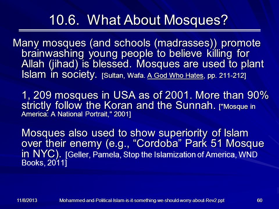 10.6. What About Mosques