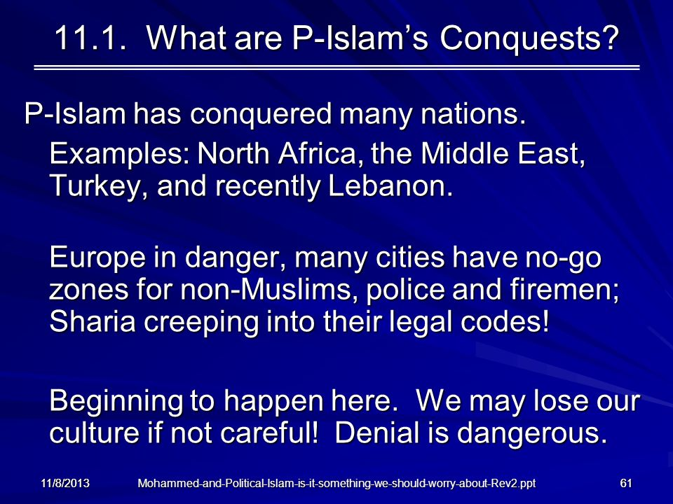 11.1. What are P-Islam's Conquests