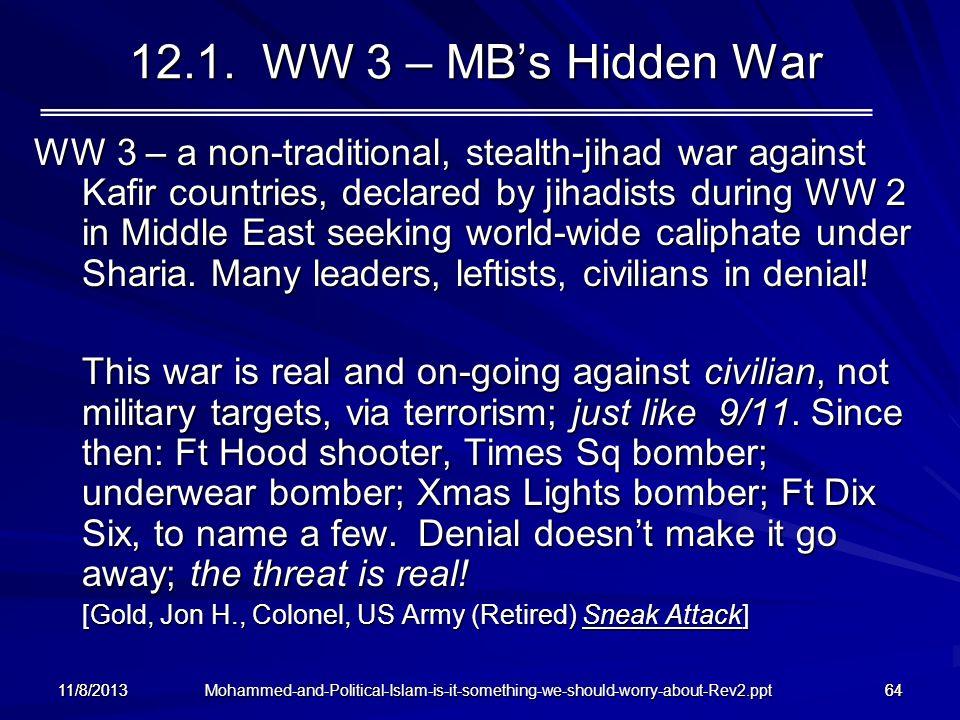 12.1. WW 3 – MB's Hidden War