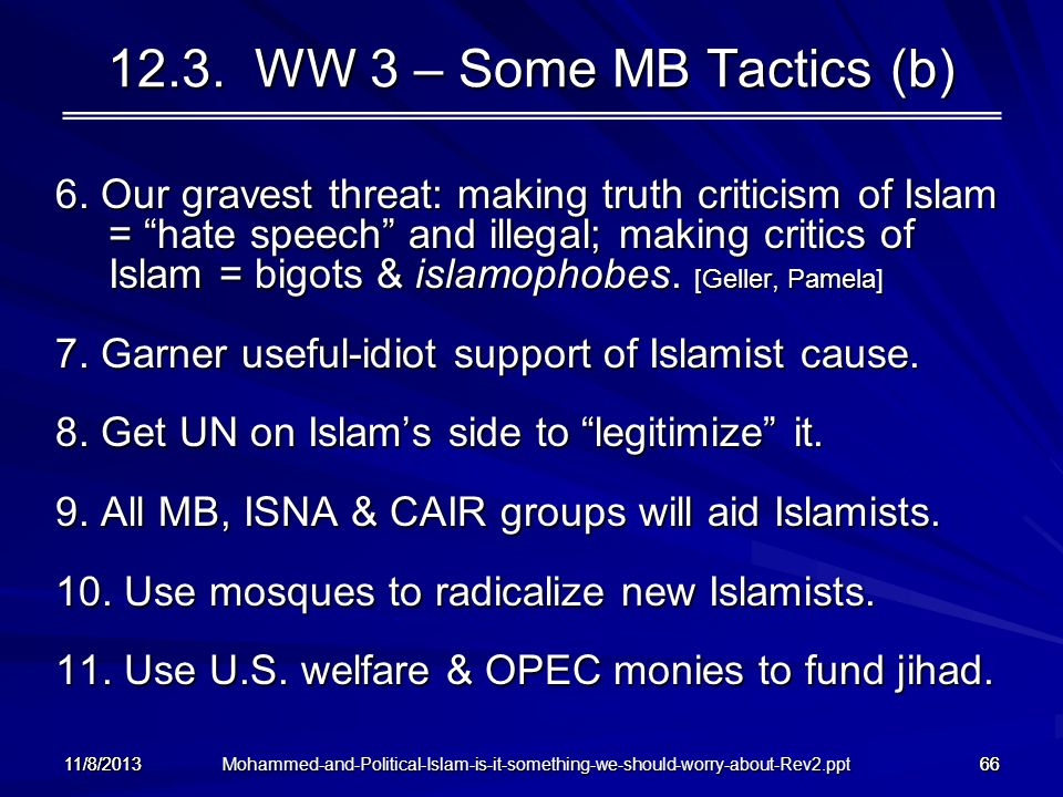 12.3. WW 3 – Some MB Tactics (b)