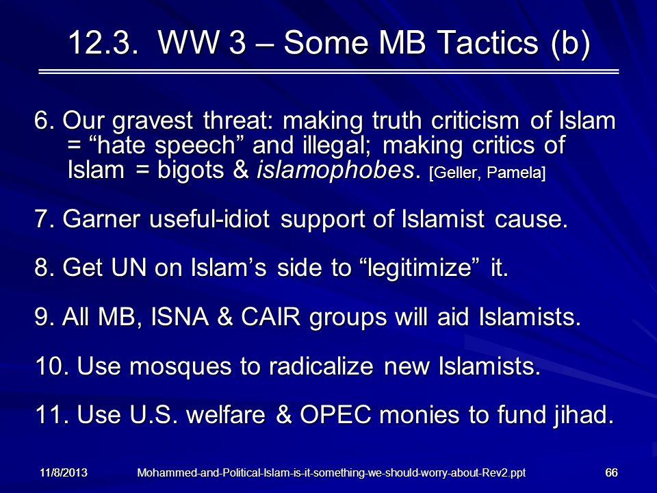 12.3. WW 3 – Some MB Tactics (b)