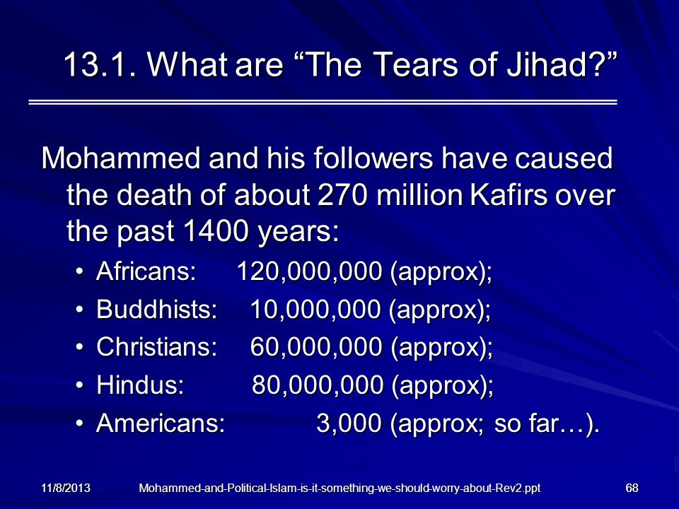13.1. What are The Tears of Jihad