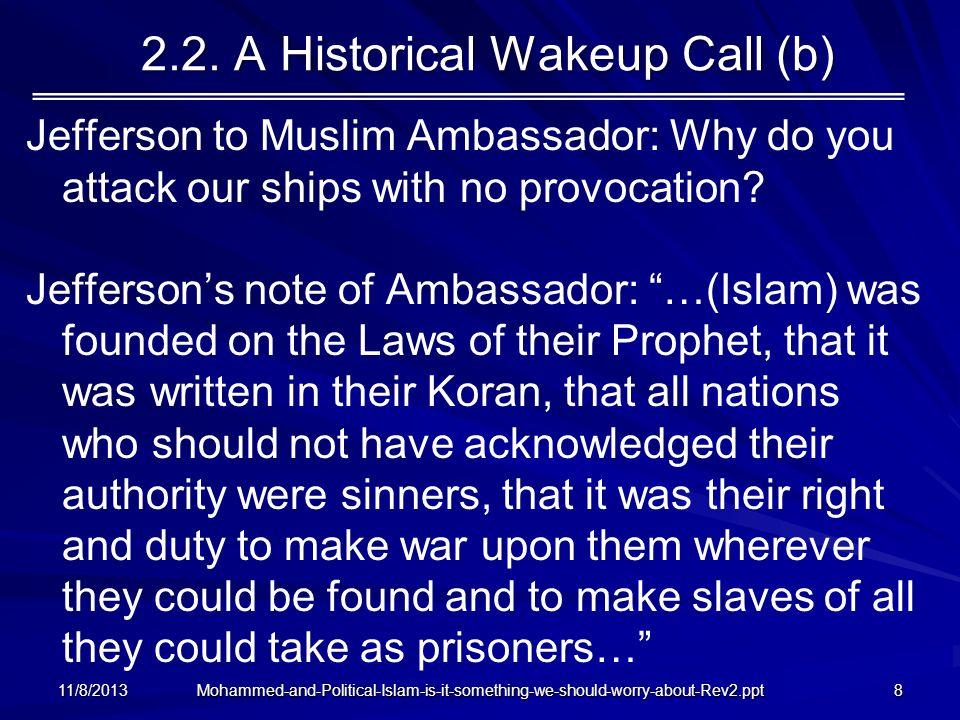 2.2. A Historical Wakeup Call (b)