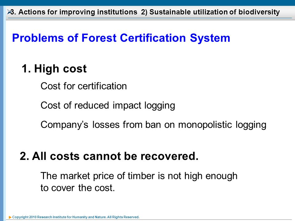 Problems of Forest Certification System